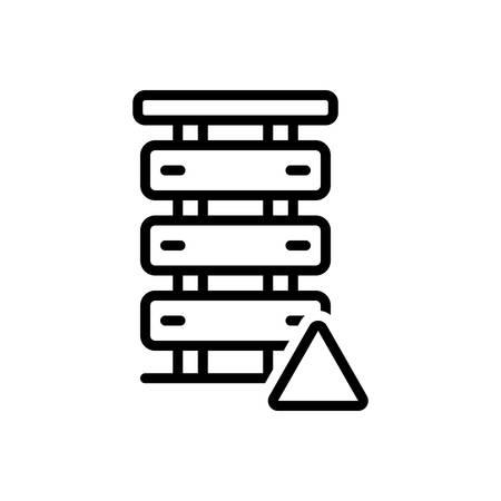 Icon for server error,server Stockfoto - 130474890