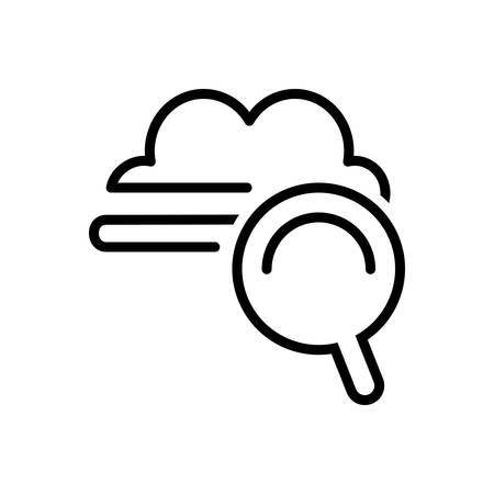 Icon for cloud search,estimate