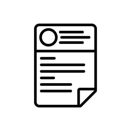 Icon for cv,resume Illustration