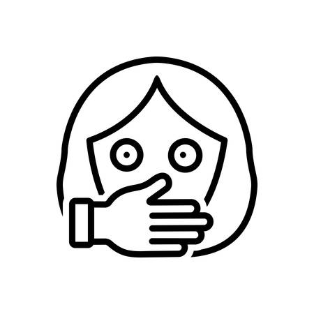 Icon for oppression,harassment