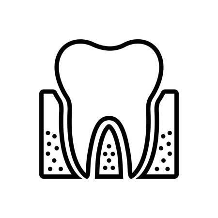 Icon for periodontics; dental