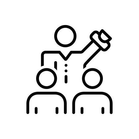 Icon for persuade, coax