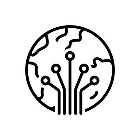 Icono de fotónica, fibra óptica