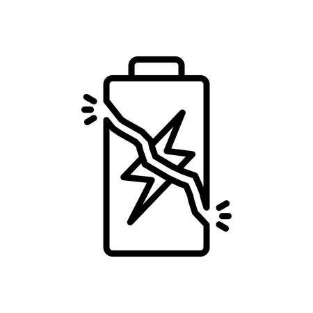 Icon for overcharge, battery