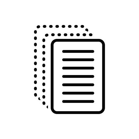 Icon for paperless, cardboard