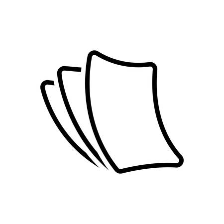 Icon for paperless ,cardboard