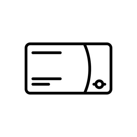 Icon for debit card, credit card  イラスト・ベクター素材