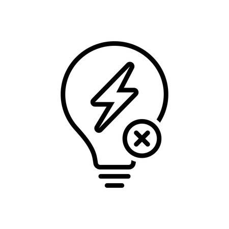 Icon for outage ,electricity
