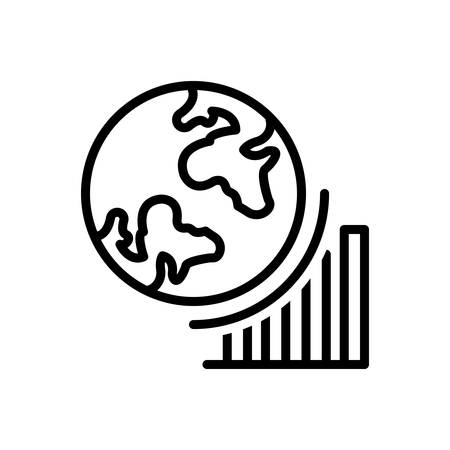 Icon for globel progress ,growth Çizim