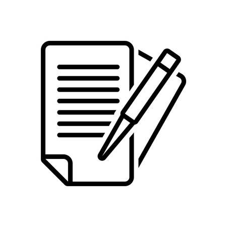 Icon for paperwork, bureaucracy Stock Illustratie