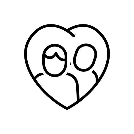 Icon for relationship ,couple Иллюстрация