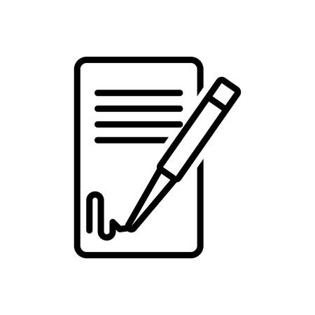Icon for signing contact ,signature