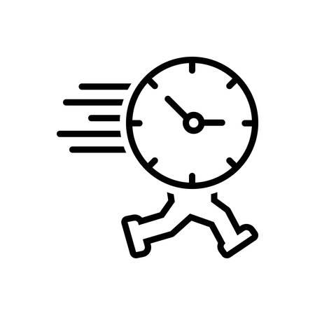 El icono de tiempo se está acabando, recordatorio Ilustración de vector
