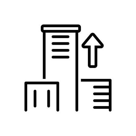 Icon for get on top, up