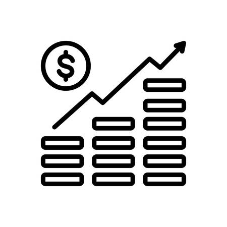Icon for money growth,managment 向量圖像