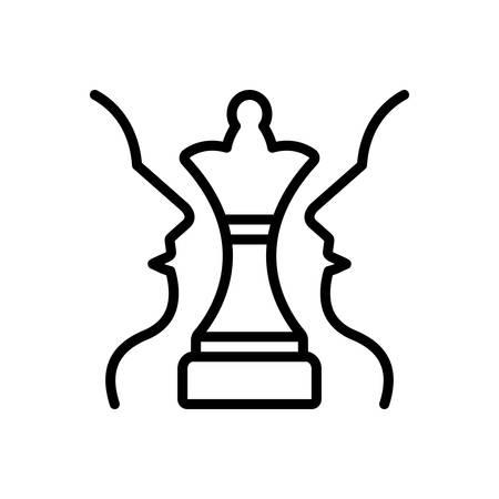 Icon for strategic plan,chess