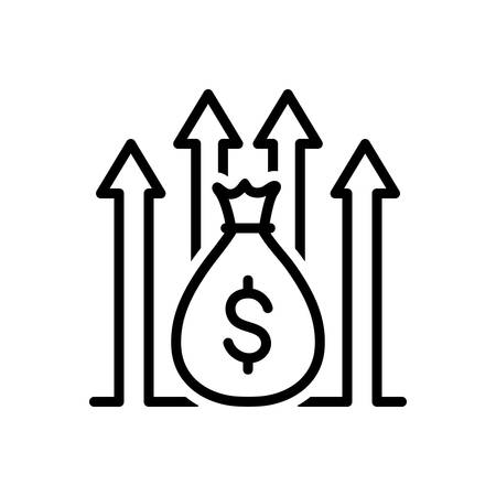 Icon for funds raising,increase