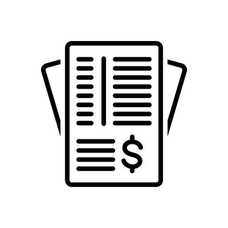 Icon for invoice paper,paperwork