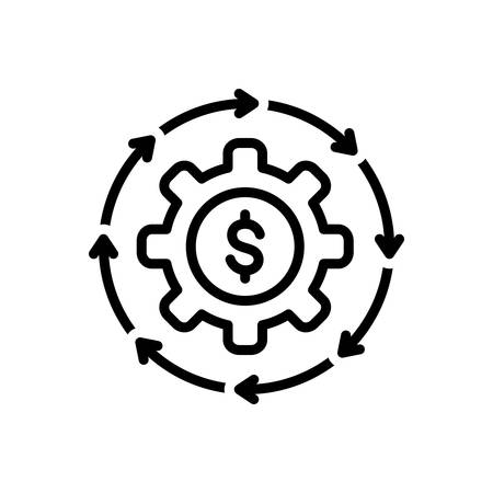 Icon for money flow,cash,recycle Stock Illustratie