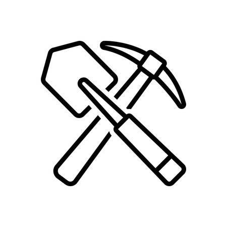 Icon for shovel ,entrenching