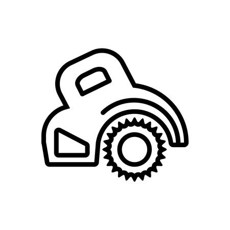 Icon for circular saw ,electric