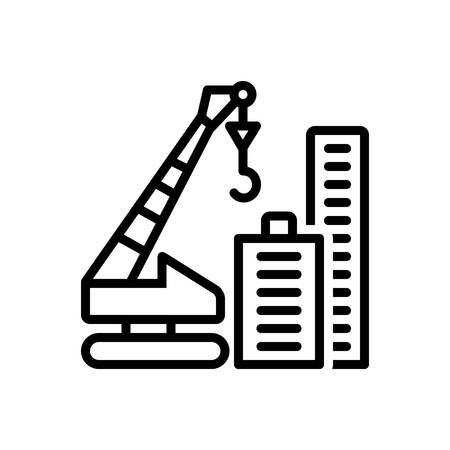 Icon for crane building, construction
