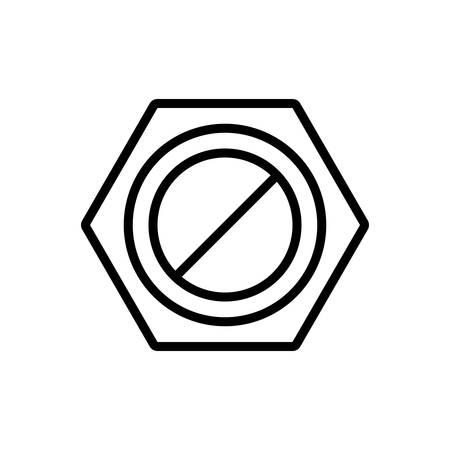Icon for nut ,screw, hardware