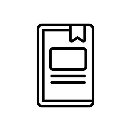 Icon for work book ,publication