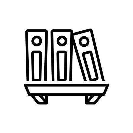 Icon for archive files, library