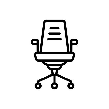 Icon for office chair, back support