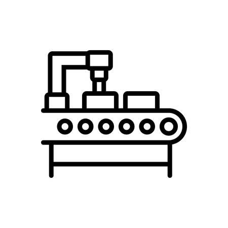 Icon for production ,manufacturing Ilustração