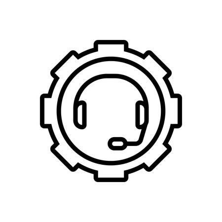 Icon for support ,headset