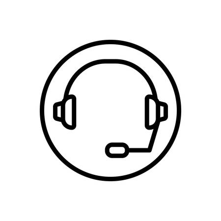 Icon for support, headset