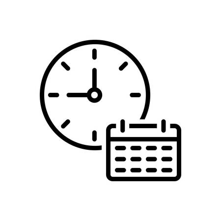 Icon for time table, dials ,clock Stock Illustratie