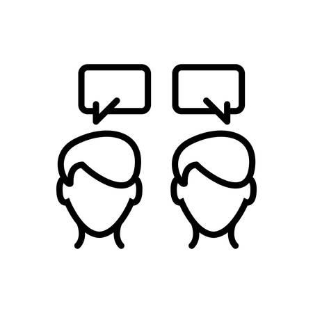Icon for communication, talking