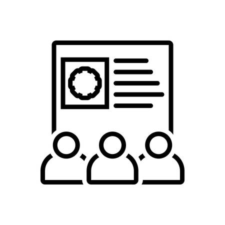 Icon for team skills ,employee