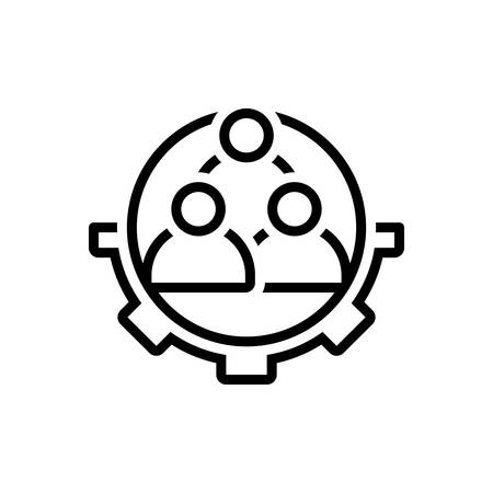 Icon for workforce ,corporate Ilustrace