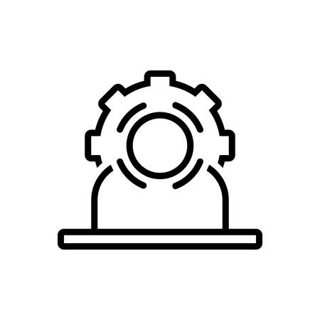 Icon for head hunting, head Ilustração