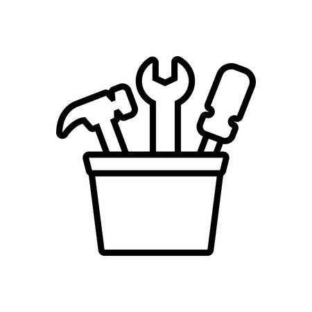 Icon for tools,toolbox 向量圖像