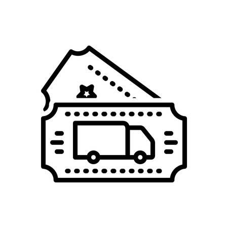 Icon for transport ticket,transport,ticket Illustration