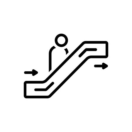 Icon for escalator,passenger