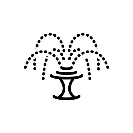 Icon for fountain,waterfall