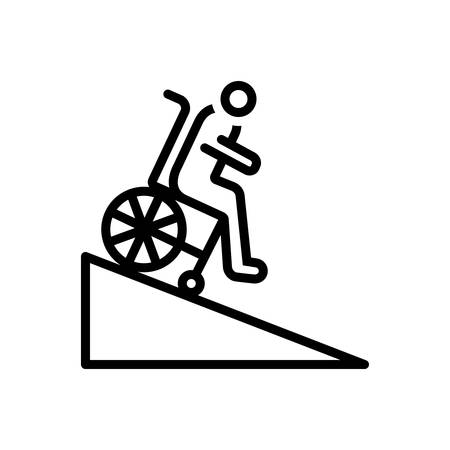 Icon for ramp,handicap Illustration