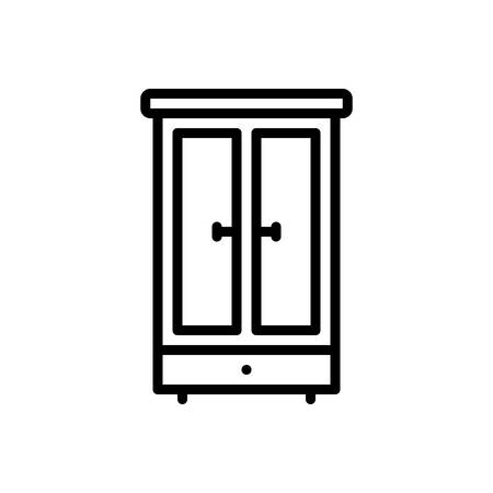 Icon for wardrobe,furniture 向量圖像