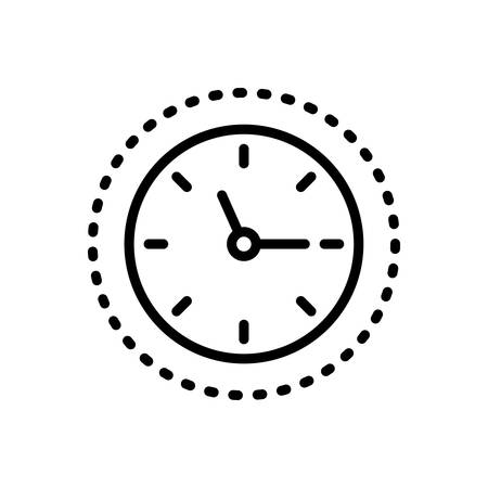 Icon for around the clock,time is running