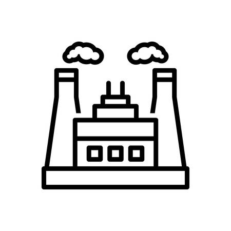Icon for power industry, power