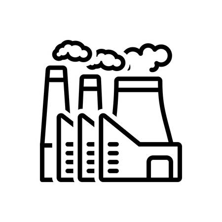 Icon for power plant ,nuclear plant