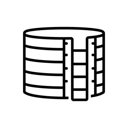 Icon for storage tank, liquid
