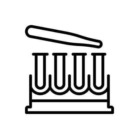 Icon for test tubes, research