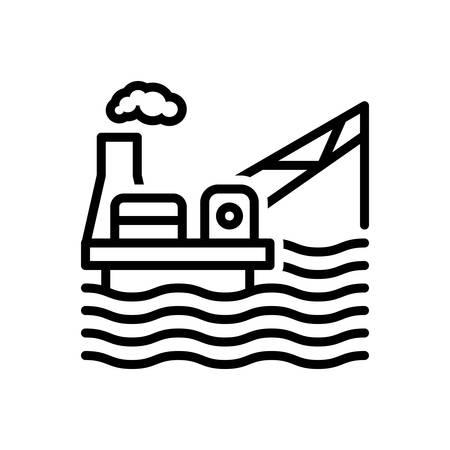 Icon for drilling rig, platform, exploration Ilustração
